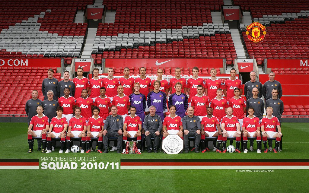 Ben Barclay Wallpaper: Manchester United 2010/11 Barclays Premier League Squad Wa