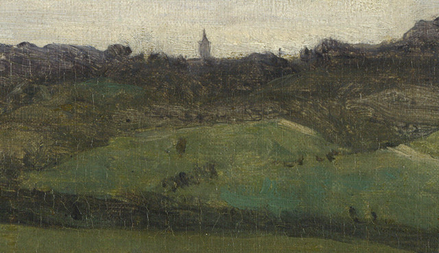 Camille Corot: The Seine near Rouen, close up (1829-33)