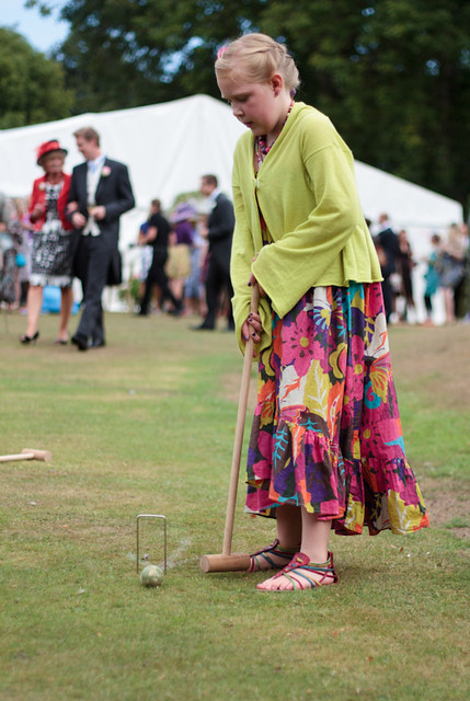The Wedding of Tom & Amie Flower. Croquet!