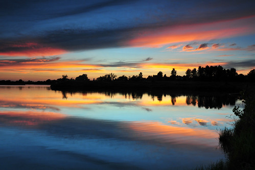 park sunset water creek reflections kansas wichita chisholm chisholmcreekpark
