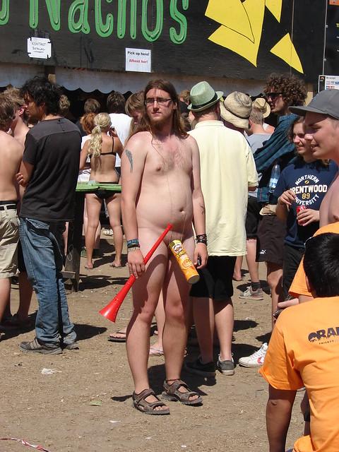 The naked guy with the vuvuzela