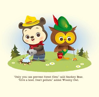 Smokey Bear and Woodsy Owl