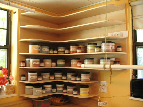 Shelves, stocked with dye | by haldechick