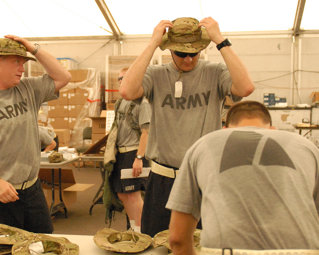 1st Lt. Kester fits the multicam boonie hat
