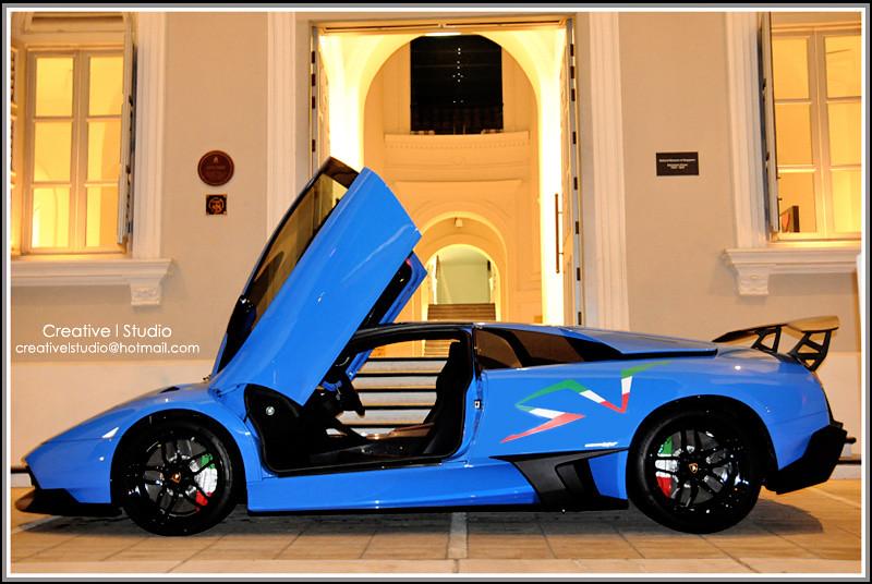 Singapore Lamborghini Murcielago Lp670 4 Sv Nova Blue Flickr