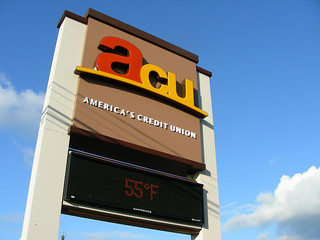 Bank Pylon Sign Retrofit | Electronic Message Board | LED Signage | America's Credit Union | by I-5 Design & Manufacture