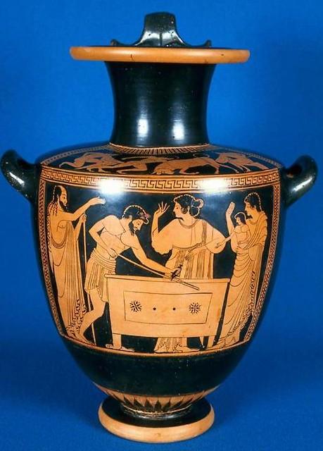 -490 Dánae y Perseo son arrojados al mar
