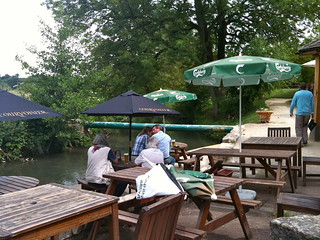 Beer garden behind The Fox Inn Little Barrington | by Tip Tours