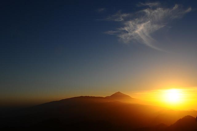 Pour Victoria coucher de soleil sur le Teide
