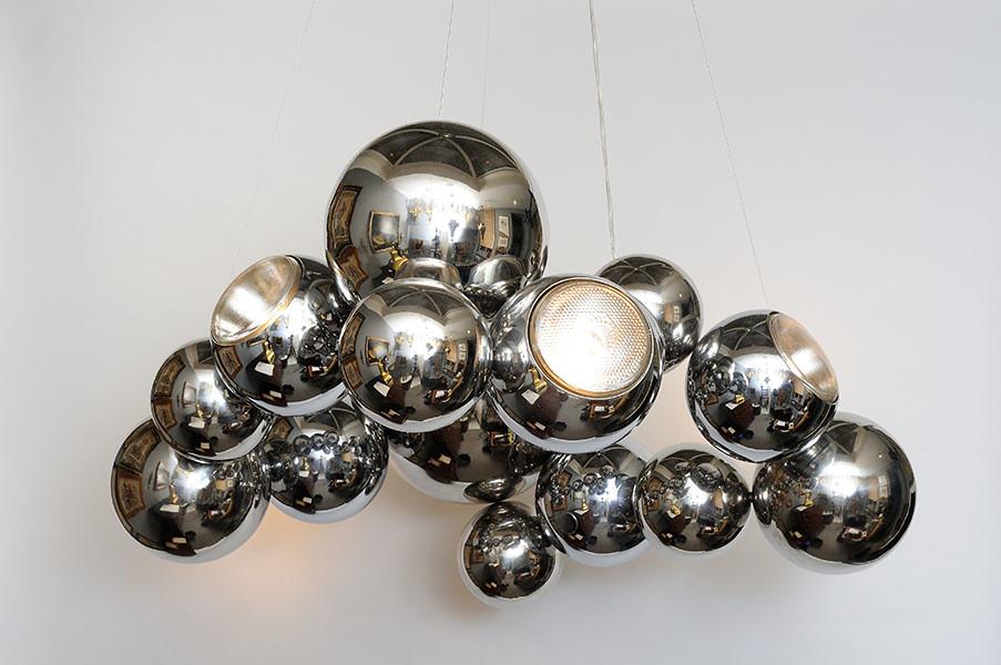 Lustre Billes Inox - Design   www.atelier-benoit-herouard.fr…   Flickr