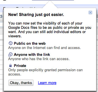 Google Docs new sharing feature | by abraham.williams