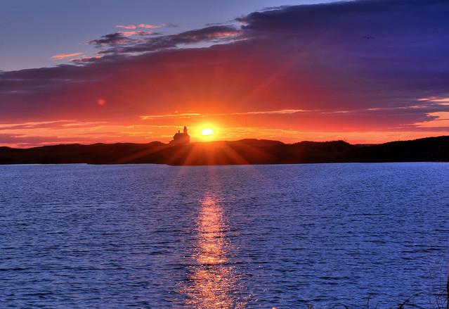 Block Island North Light at Sunset