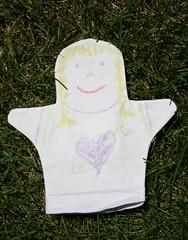 Chalkboard puppet