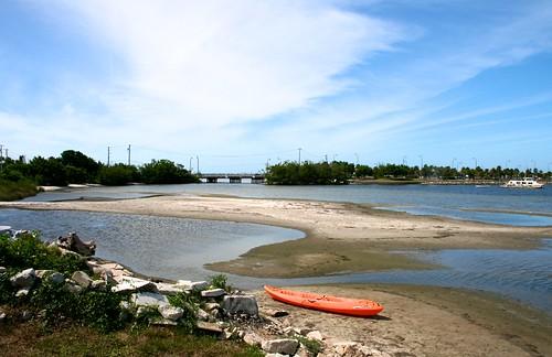 blue sky orange water landscape kayak sandbar sweat oars jensenbeach sandbars ilobsterit