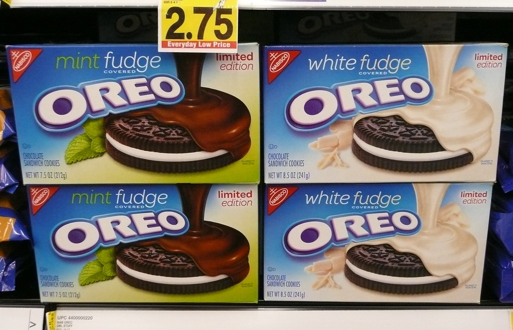 Mint Fudge And White Fudge Covered Oreos At King Soopers