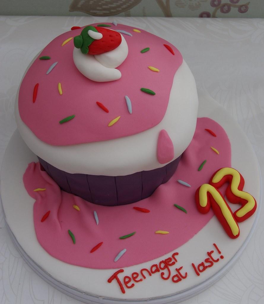 13th Giant Cupcake Birthday Cake