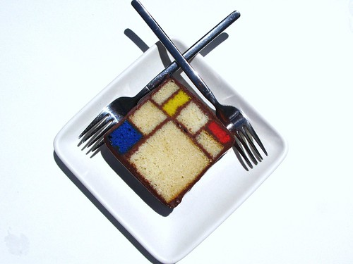 "Mondrian Cake ""Composition in Red,Blue and Yellow"", 1930 @ SFMoMA, Blue Bottle Coffee 