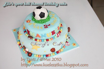Miraculous Sports Ball Themed Birthday Cake Cheryls Cake Flickr Funny Birthday Cards Online Inifodamsfinfo