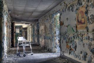 Hallway, abandoned psychiatric facility | by Timothy Neesam (GumshoePhotos)