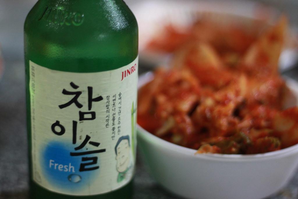 Soju and kimchi