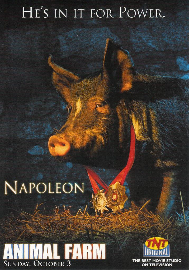 TNT Movie Animal Farm Ad Postcard | Hallmark Entertainment p