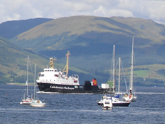 calmacs saturn turns to berth at gourock on the river clyde . a busy schedule for the cowal games sees jupiter and saturn both working the dunoon to gourock run