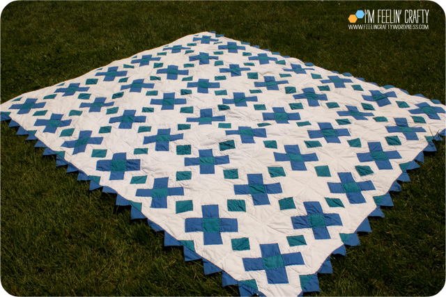 Quilts-BlueGrnCross-ImFeelinCrafty