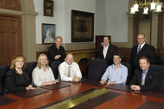 2009 1022 Gawler Council management team - Jodie Grantham, Helen Hennessy, Michael Wohlstadt, Slava Grigoriev, Steven Kerrigan, David Collins, Vic Izzo, and Paul Horwood