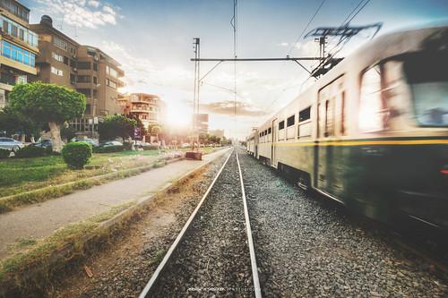 street sunset urban nikon metro egypt tram cairo hdr egypte hdri kairo heliopolis