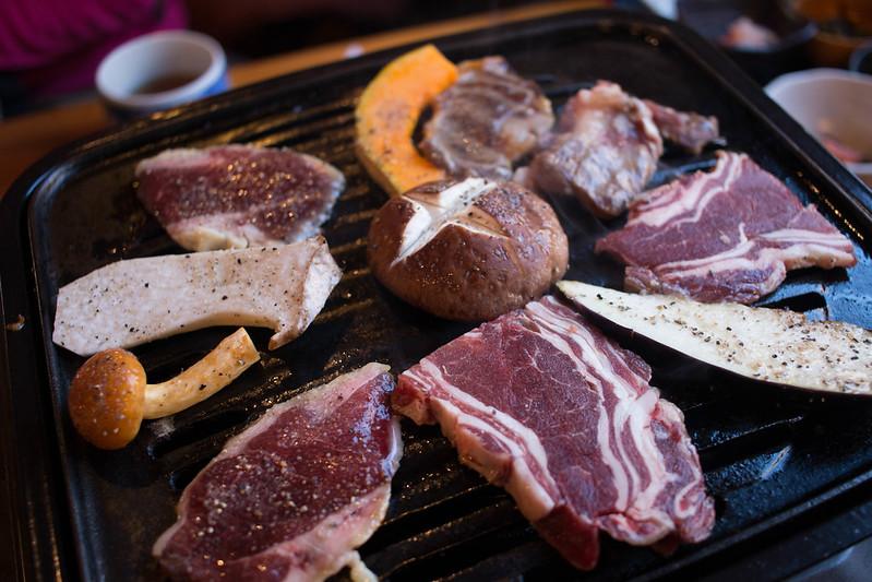 仙人小屋の熊&鹿焼肉定食