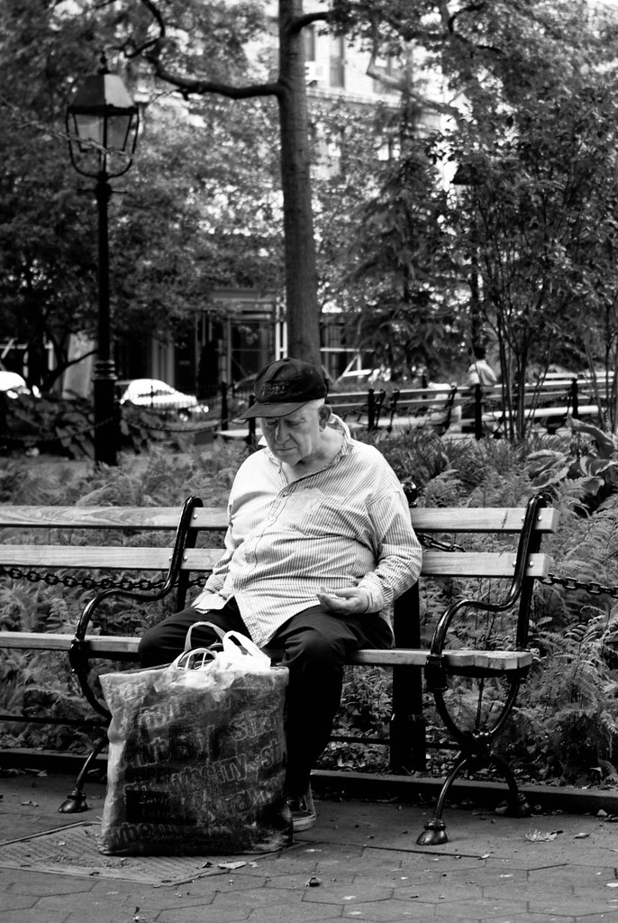 Sad Man, Washington Square Park