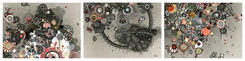 """Jill Gallenstein """"Assassination (triptych)"""""""
