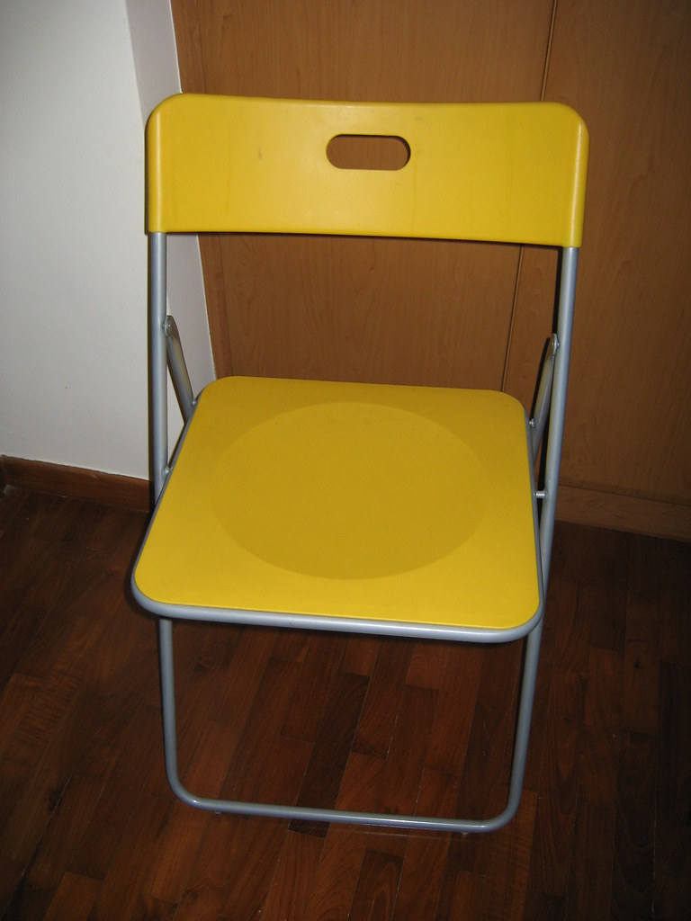 2 Ikea Folding Chair Bought At 29ea Colour Yellow