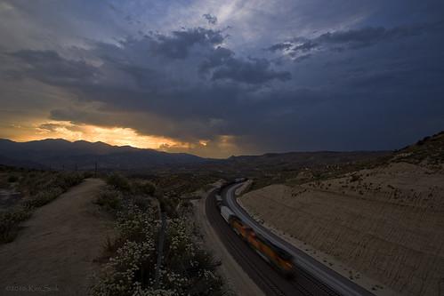 california sunset canon trains socal canondslr bnsf inlandempire cajonpass sbcusa kenszok
