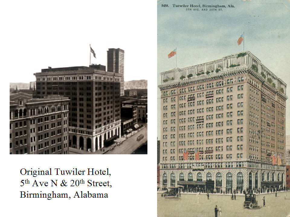 Tutwiler Hotel, c 1914, Birmingham, Alabama | The original T