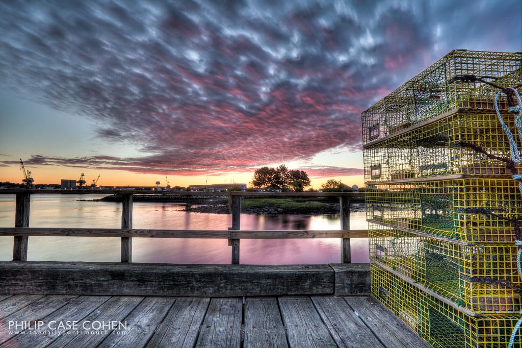 Sunrise at the Fish Pier by Philip Case Cohen