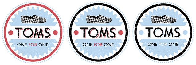 TOMS shoes T-shirt/logo design