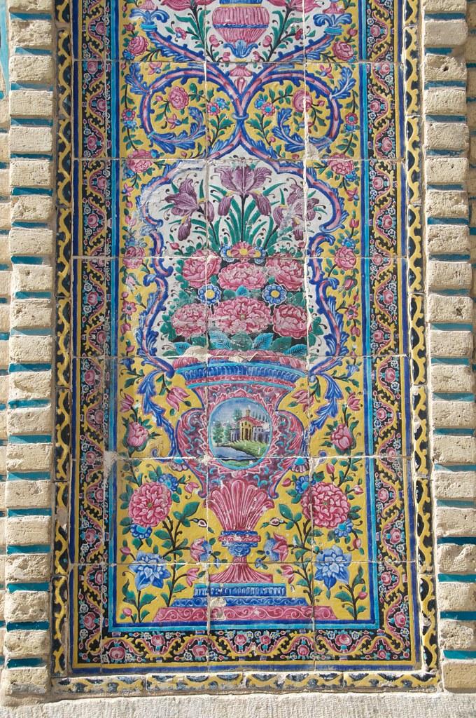 Persian Tilework At The Nasir Ol Molk Mosque Shiraz Iran A Davey Flickr