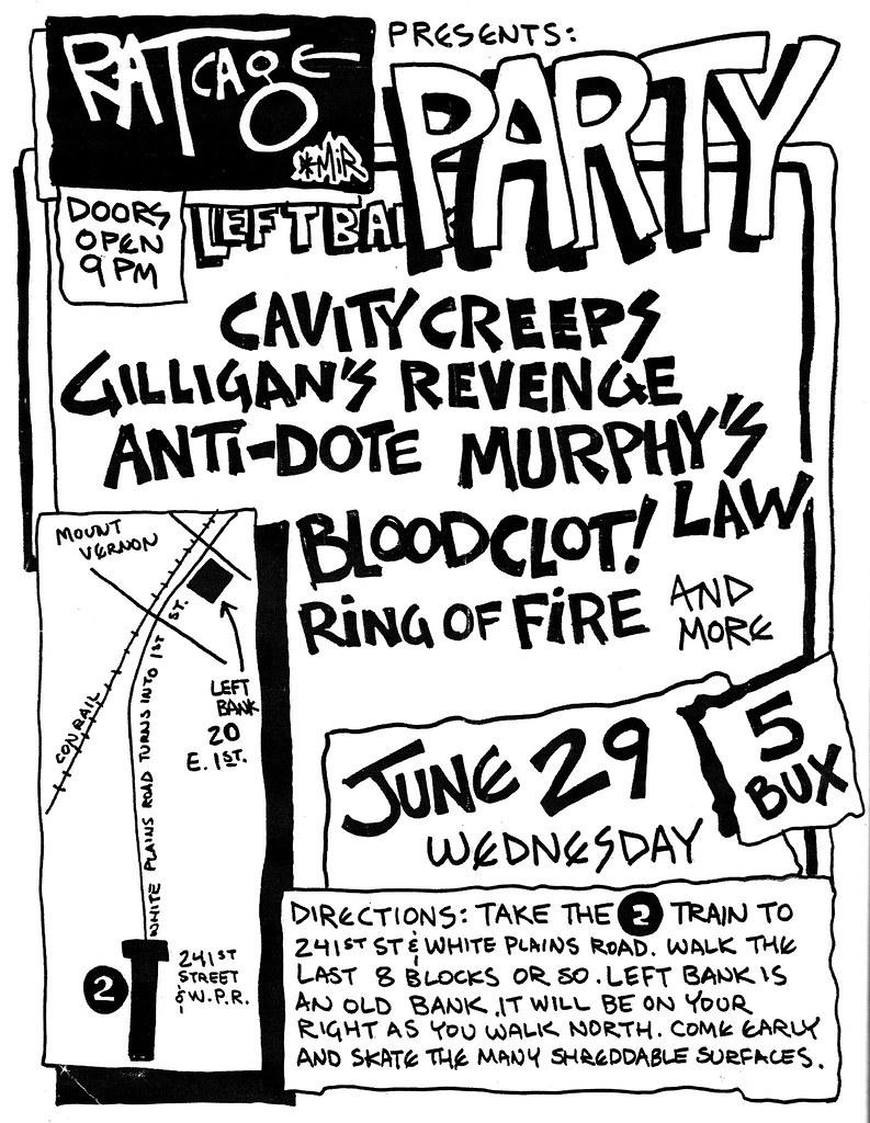 Murphy's Law, Antidote, Bloodclot, Gilligan's Revenge punk