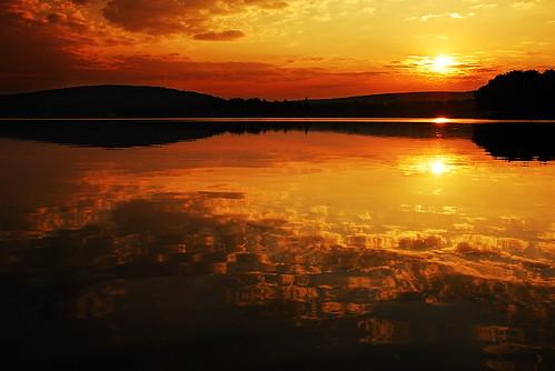 morning light sky usa sun lake ny newyork reflection water clouds sunrise early us bradford unitedstates central upstate fingerlakes lamoka