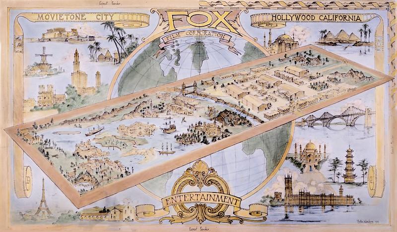 Illustration of Fox Movie Studio c1920