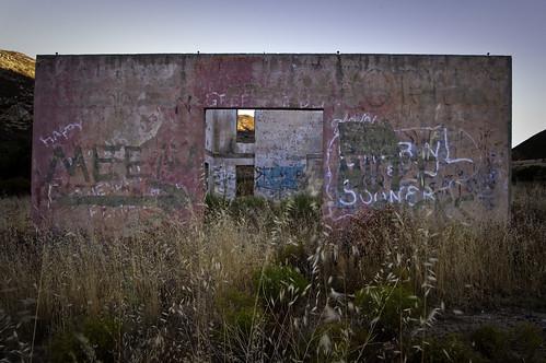 california morning southwest water ruins grafitti week36 daybreak sandiegocounty buckmansprings 525of2010 themeviewthrough