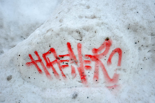 Snow graffiti | by tomsbiketrip.com