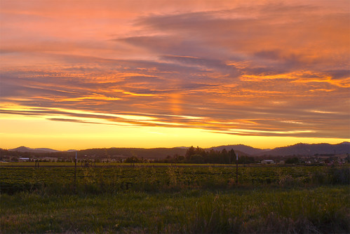 pink sunset orange oregon hdr