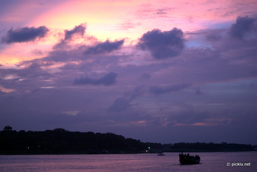 sunset sky water river boat nikon d60 savar nikond60 picklu b613