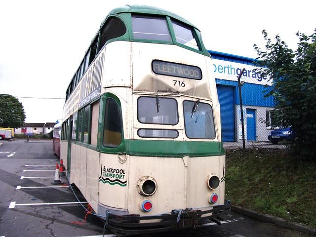 Perth-Ex. Blackpool Balloon tram 716 11/7/2010