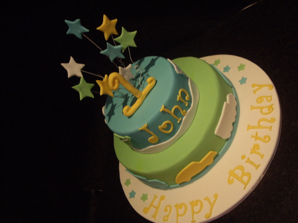 Excellent Boys First Birthday Cake Suzanne Flickr Personalised Birthday Cards Bromeletsinfo
