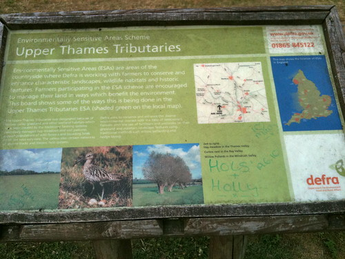 DEFRA sign at Minster Lovell Hall | by Tip Tours