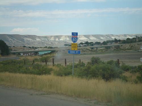 sign shield wyoming i80 rocksprings interstatehighway wyomingstatehighway wy430