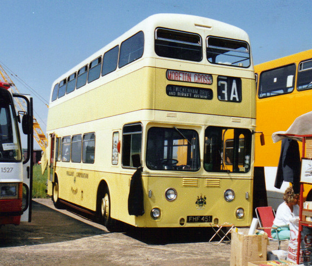 1, FHF 451, Leyland Atlantean, MCW Body, 1958 (Wallesey Corp.)